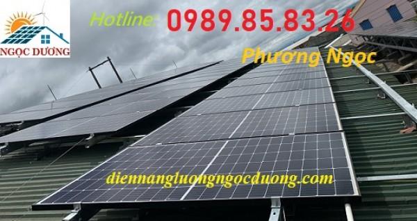 Hệ thống điện mặt trời hòa lưới 6,3 kW 01 pha, điện mặt trời nối lưới