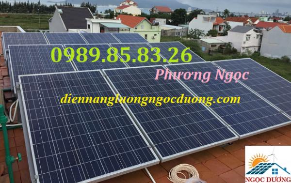 Hệ thống điện năng lượng mặt trời hòa lưới 10KW 3 pha, combo điện mặt trời mái nhà