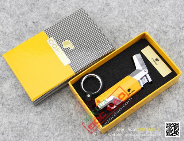 Hình ảnh và giá bật lửa hút cigar 1 tia Cohiba chính hãng H023?