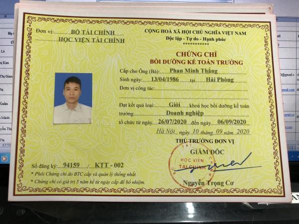 Học kế toán trưởng tại Quảng Ninh