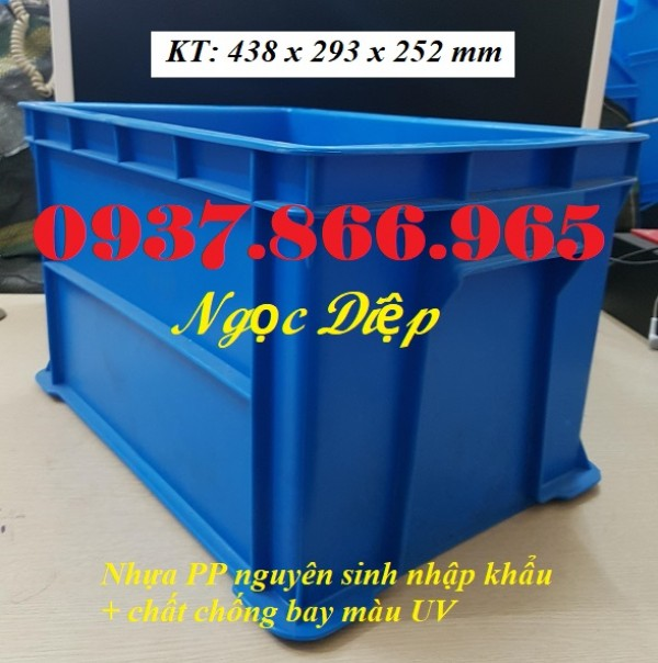 Hộp nhựa B6, thùng nhựa công nghiệp