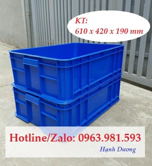 Hộp nhựa HS003, thùng nhựa đặc, sóng nhựa bít
