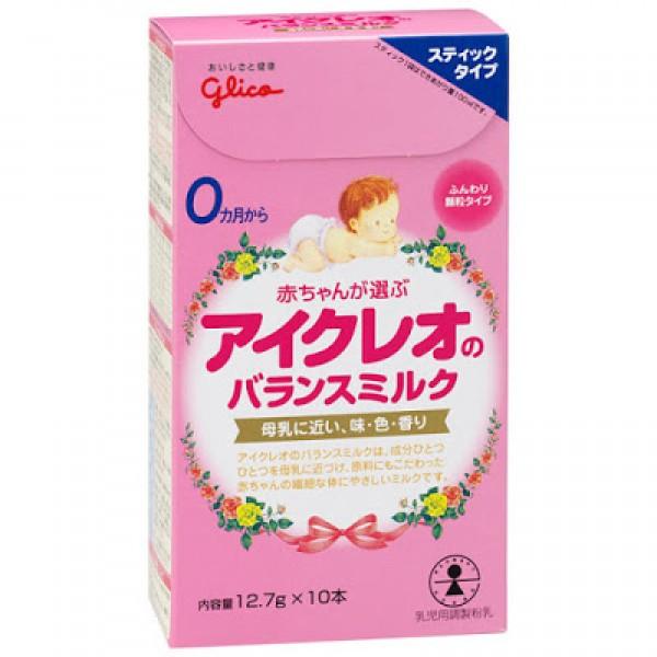 Hướng dẫn cách pha sữa Glico dạng thanh số 0