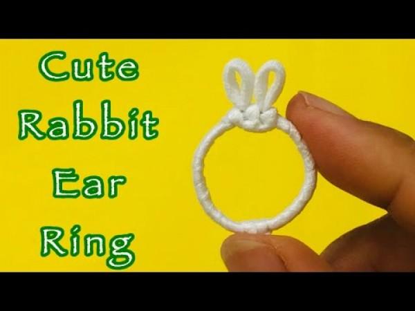 Hướng dẫn làm Nhẫn Tai Thỏ CỰC DỄ cho nàng tặng Crush