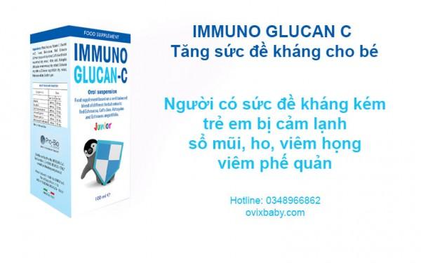 Immuno Glucan C phòng ngừa viêm đường hô hấp cho trẻ
