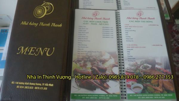 In menu nhanh, in menu giá rẻ, in menu ở Hà Nội