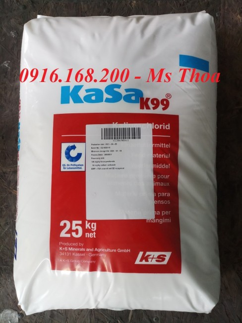 KASA K99 - Kali clorua Đức, Khoáng Kali giúp bổ sung vào thức ăn cho tôm cá