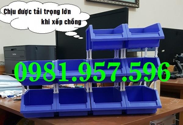 Kệ dụng cụ 719, khay nhựa chống tầng loại nhỏ, khay nhựa xếp chồng