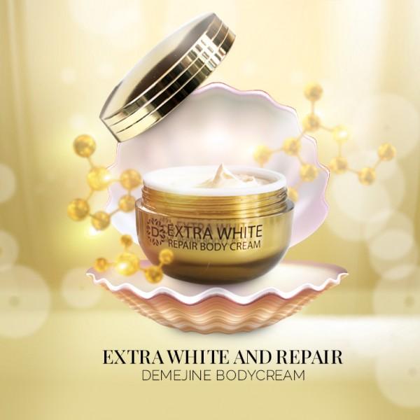 Kem body dưỡng ẩm và trắng da toàn thân Demejine Extra White & Repair Body Cream