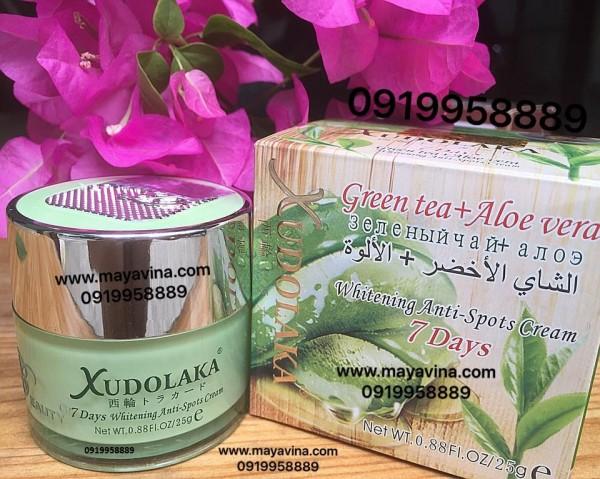 Kem Xudolaka trà xanh nha đam (green tea aloe) cao cấp trị mụn nám sạm tàn nhang