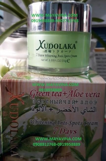 Kem Xudolaka trà xanh nha đam (green tea aloe) cao cấp trị nám sạm tàn nhang