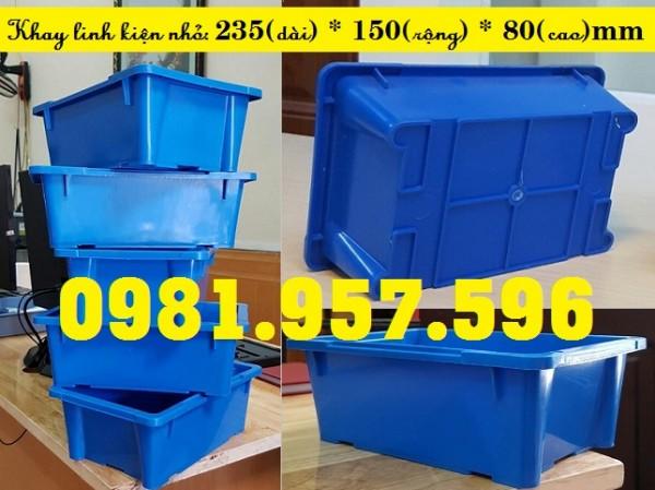 Khay linh kiện A4, hộp nhựa A4, khay linh kiện chữ nhật