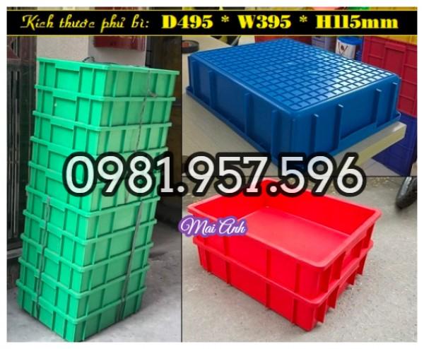 Khay nhựa 1T1 đựng linh kiện, khay công nghiệp chữ nhật
