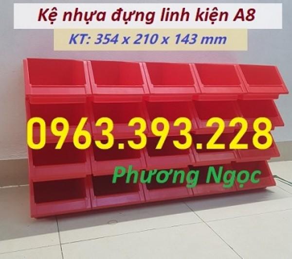 Khay nhựa A8 đựng ốc vít, kệ nhựa chống tầng, khay linh kiện, kệ dụng cụ A8