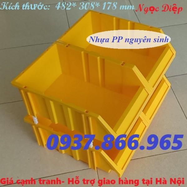 Khay nhựa đựng dụng cụ có chống tầng, khay nhựa vát đầu