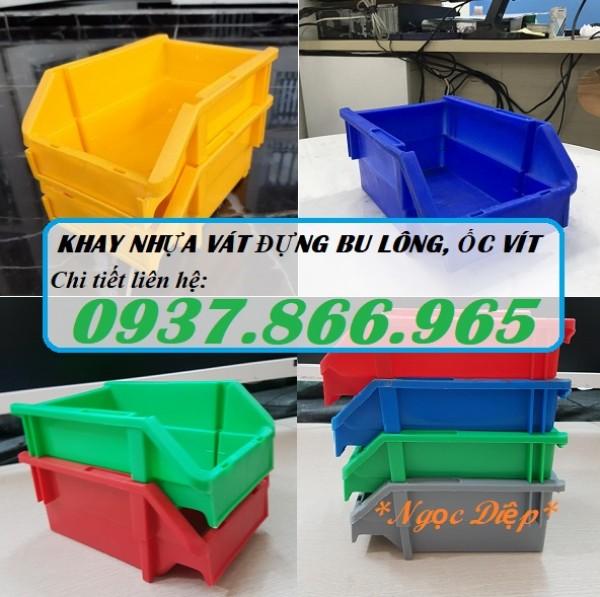 Khay nhựa sử dụng trong gara, khay nhựa vát đựng linh kiện điện tử