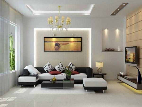 Không gian nhà ở sống động, lung linh với đèn chiếu sáng