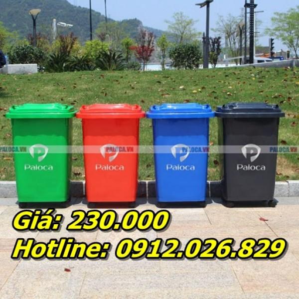 Kích thước thùng rác nhựa công nghiệp (60 lít, 90 lít, 120 lít, 240 lít)