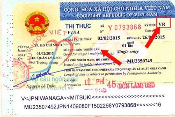 Ký hiệu ĐT gia hạn visa 1 năm (Sign Visa DT renew a visa 1 year)
