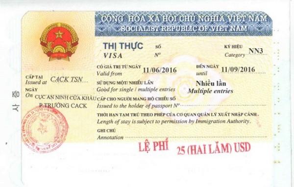 Ký Hiệu Visa DH gia hạn lưu trú 15 ngày