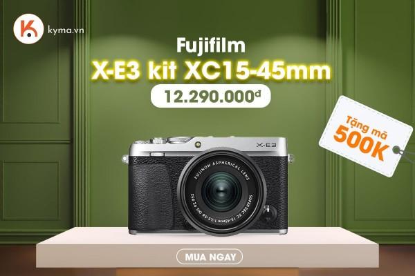 Kyma tri ân khách hàng tháng 5 - Tặng mã giảm 500K khi mua máy ảnh Fujifilm X-E3
