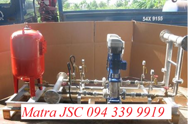 Lắp đặt hệ bơm tăng áp , Bình tích áp Varem . 094 339 9919
