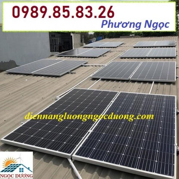Lắp đặt hệ thống điện mặt trời hòa lưới 5KW, combo hệ thống điện mặt trời áp mái