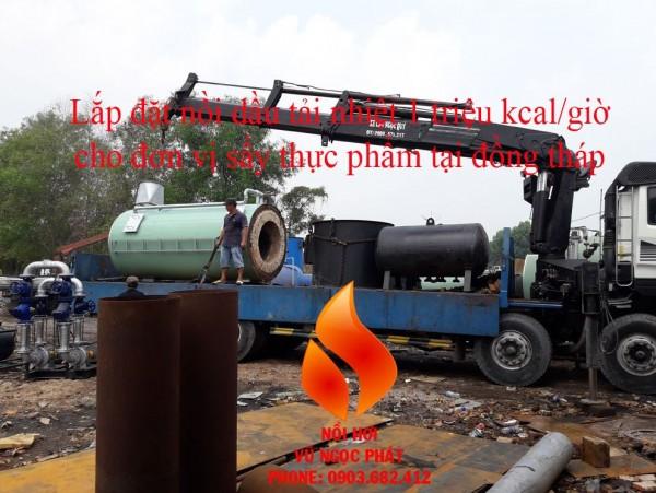 Lắp đặt nồi dầu tải nhiệt 1 triệu kcal cũ - 0903.682.412