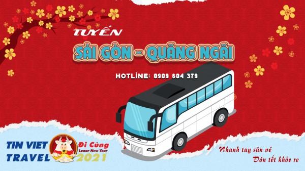 Lịch trình, Giá Vé Xe Tết Sài Gòn Quảng Ngãi cập nhật