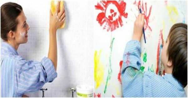 Loại bỏ vết bẩn trên tường thường gặp nhất
