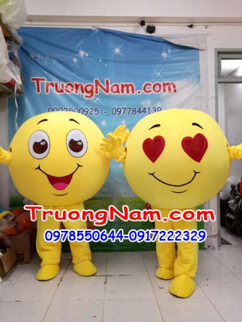 Mascot icon mặt cười ngộ nghĩnh