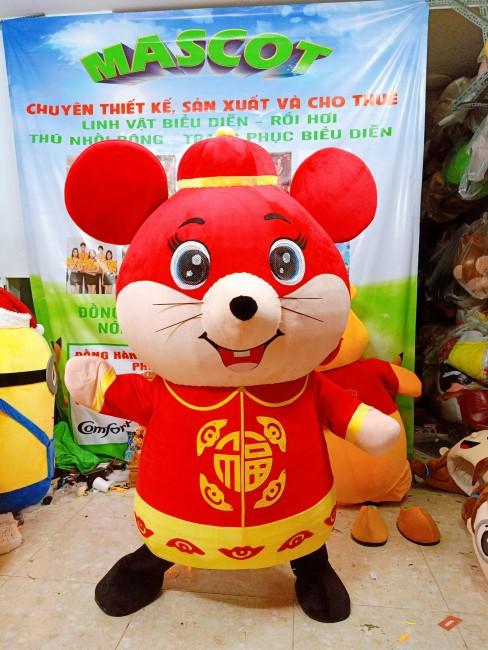 Mascot linh vật chuột năm tý