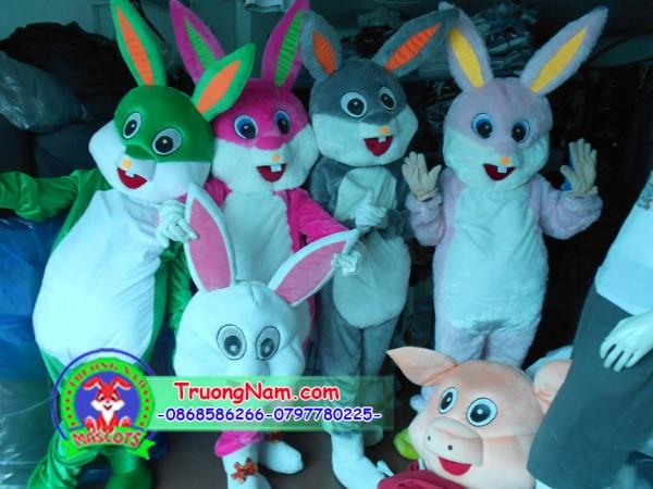 Mascot thỏ , mascot trung thu, trang phục biểu diễn