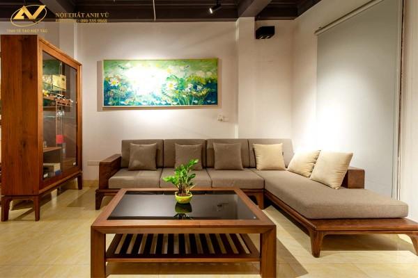 Mẫu ghế sofa gỗ chữ L đẹp hiện đại AV-SF 003