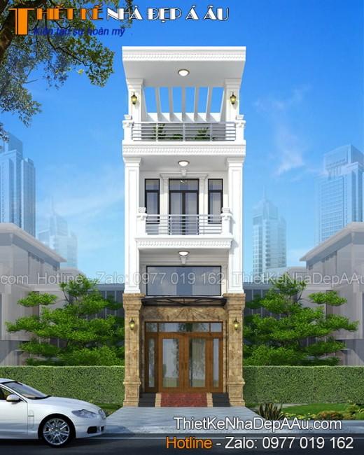 Mẫu nhà phố 3 tầng 80m2 hiện đại sang trọng đầu tư dưới 1 tỷ