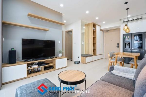 Mẫu nội thất phòng khách căn hộ chung cư