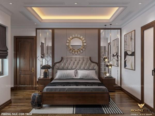 Mẫu nội thất phòng ngủ tân cổ điển nhẹ nhàng, tinh tế