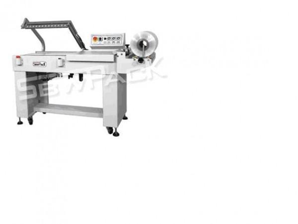 Máy cắt dán màng co POF bán tự động, máy cắt dán màng co hộp trà /hộp mỹ phẩm