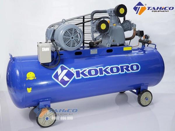 Máy nén khí phụ trợ rửa xe hai cấp dây đai 7,5hp Kokoro
