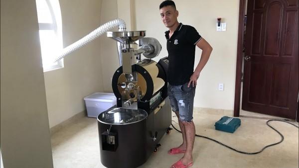 Máy rang cà phê bằng gas mới