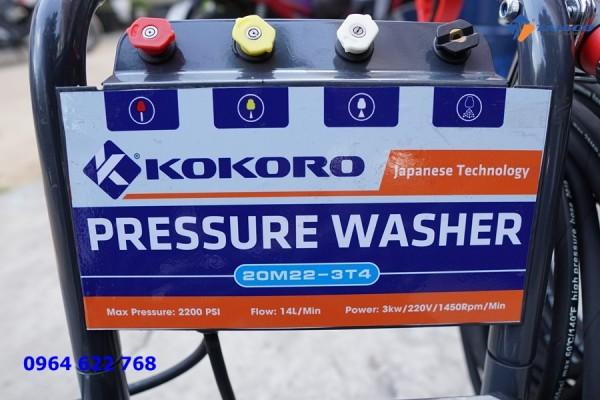 Máy rửa xe cao áp Kokoro T2200MG tại  Cà Mau