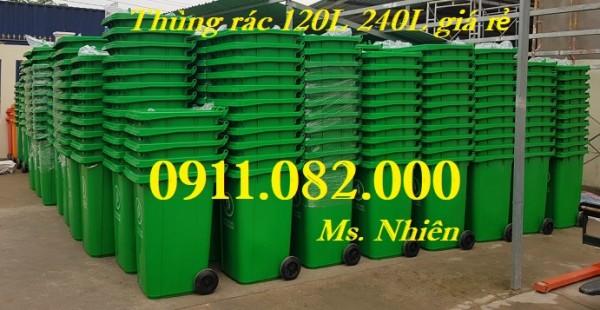 Mua bán giá rẻ thùng rác 120L 240L 660L tại vĩnh long- thùng rác y tế màu vàng-lh 0911082000