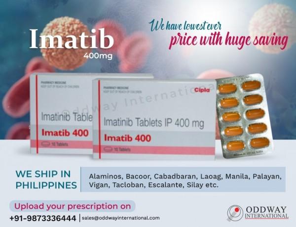 Mua Imatib 400mg Tablet trực tuyến với chi phí bán buôn từ nhà xuất khẩu thuốc quốc tế