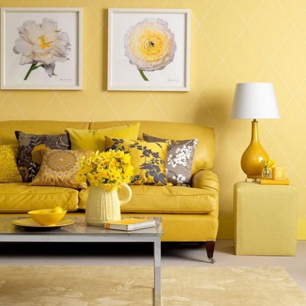 Ngôi nhà bừng sáng đầy sức sống với tone vàng