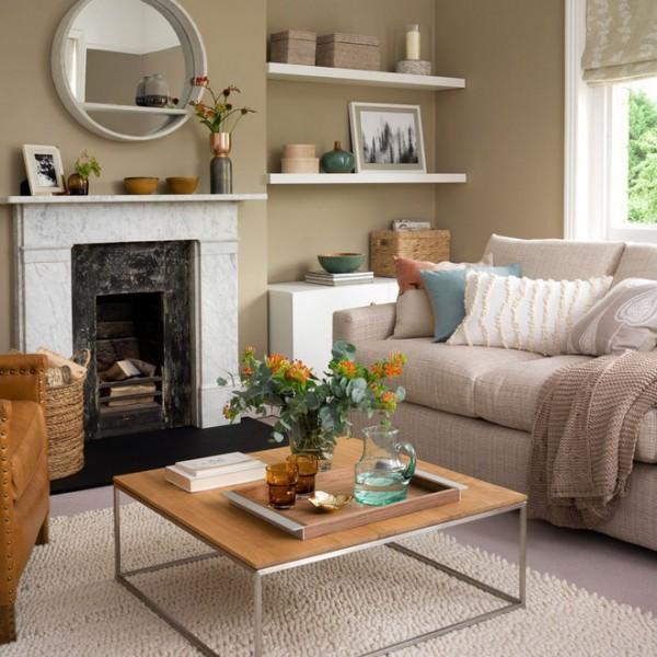 Ngôi nhà có những gam màu thích hợp với tiết thu se lạnh
