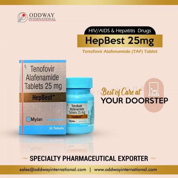 Viên uống Hepbest 25mg (Tenofovir) Trực tuyến với giá Bán buôn - Oddway International