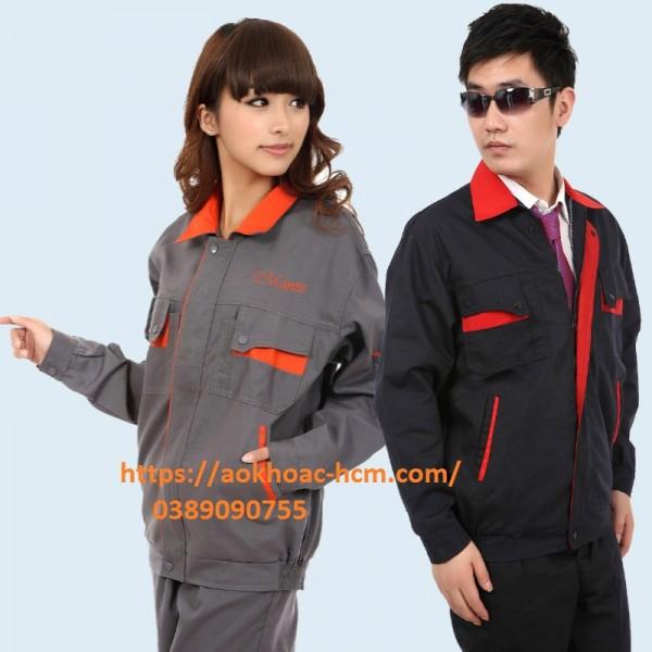 nhận may áo gió đồng phục công nhân Bình Định