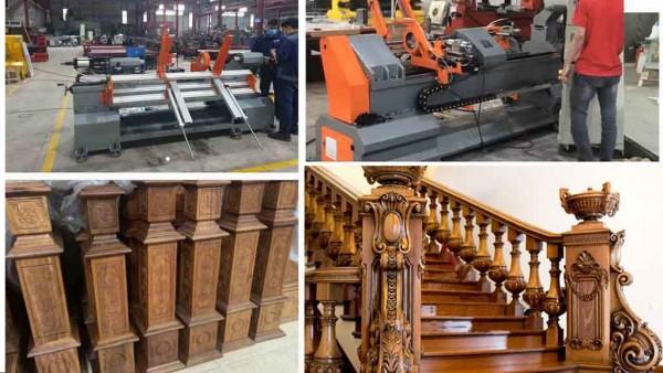 Nhận sản xuất trụ cầu thang gỗ, con tiện cầu thang gỗ