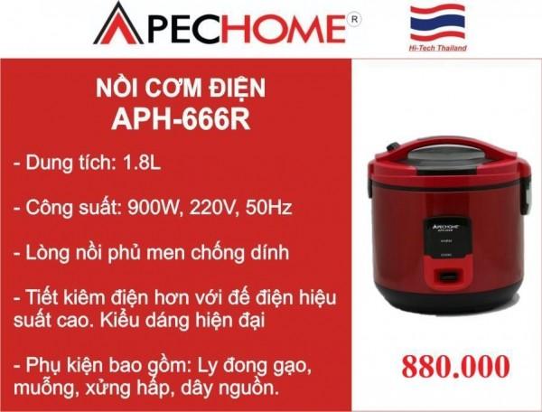 Nồi cơm điện APH-666R - Điện máy Thành Đạt