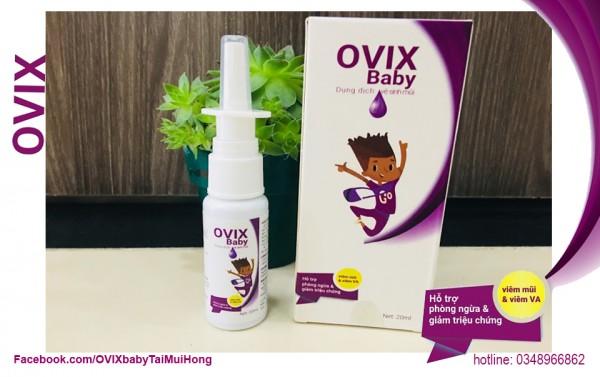 Ovix baby chăm sóc và phòng ngừa viêm mũi dị ứng ở trẻ em